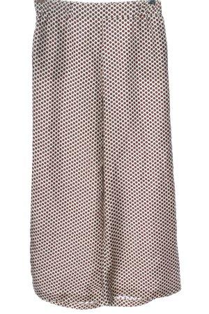 Seductive Baggy broek wit-rood volledige print casual uitstraling