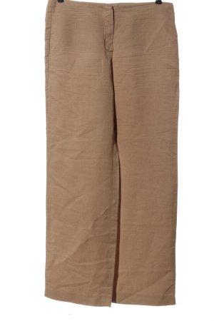 Seductive Pantalone di lino color carne puntinato stile casual