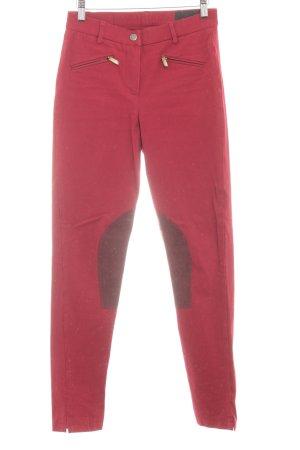 Seductive Pantalone da equitazione rosso scuro-bordeaux stile casual