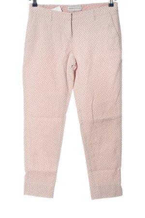 Seductive Stoffhose pink-braun Allover-Druck Elegant