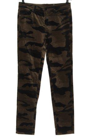 Seductive Stoffhose braun-khaki Camouflagemuster Casual-Look