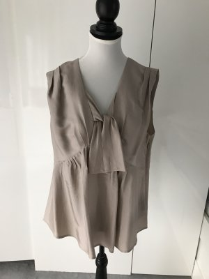See by Chloé Silk Top grey brown