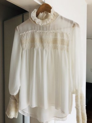 See by Chloe, ausgefallene Bluse, transparenter Stoff