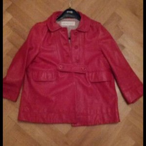 See by Chloé Leather Blazer red