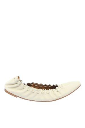 """See by Chloé Składane baleriny """"Feminie Daywear"""" w kolorze białej wełny"""