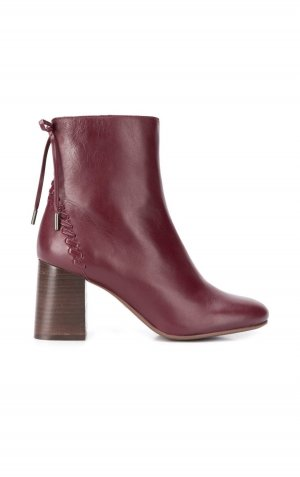 See by Chloé Howl Stitch Booties/ Stiefeletten bordeaux rot burgundy
