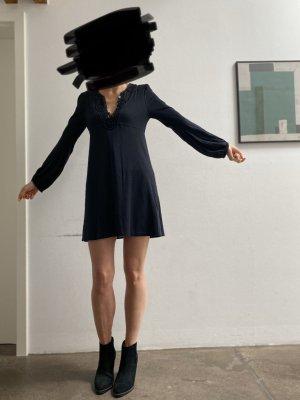 SEE BY CHLOE Kleid schwarz Boho Minikleid 36 Seidenkleid Baumwollkleid
