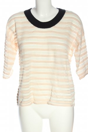 See by Chloé Kurzarm-Bluse Streifenmuster Casual-Look