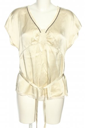 See by Chloé Kurzarm-Bluse creme-schwarz Business-Look