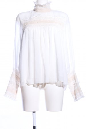 See by Chloé Blouse à manches longues blanc-rose style d'affaires