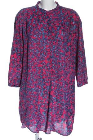 See by Chloé Abito a maniche lunghe rosa-blu stampa integrale stile casual