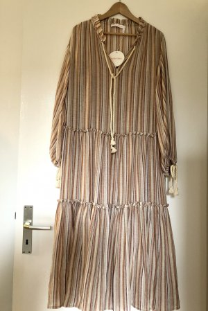 See By Chloé langes Kleid gestreift Volants Hippie maxikleid