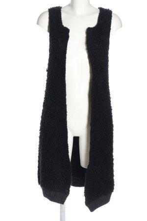 See by Chloé Cardigan lungo smanicato nero-grigio chiaro stile casual