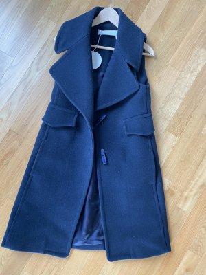 See by Chloé Manteau en laine bleu foncé laine