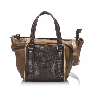 See by Chloe Metallic Leather Shoulder Bag