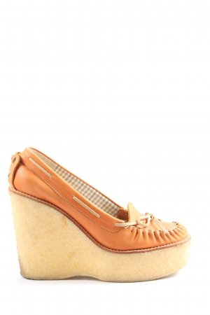 See by Chloé Plateau-Pumps hellorange Casual-Look