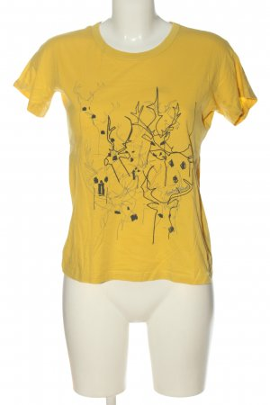 See by Chloé Camicia fantasia giallo pallido-nero Stampa a tema stile casual