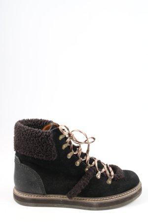 See by Chloé Bottes à lacets noir-brun style décontracté