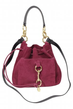 See by Chloé Schultertasche in Lila aus Leder