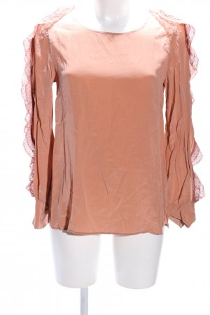 See by Chloé Zijden blouse nude casual uitstraling