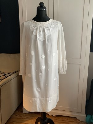 See by Chloé Robe d'été blanc cassé soie