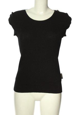 See by Chloé Top lavorato a maglia nero-oro stile casual