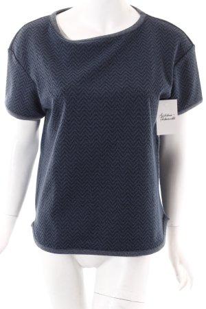 See by Chloé Sweatshirt dunkelblau Zackenmuster sportlicher Stil