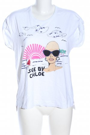 See by Chloé T-Shirt Allover-Druck Casual-Look