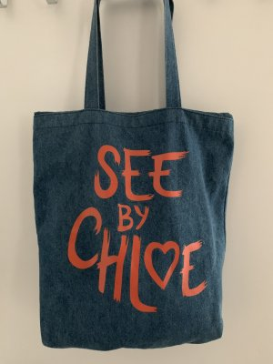 See by Chloé Shopper cornflower blue-bright red
