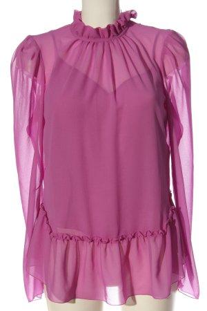 See by Chloé Blusa transparente rosa elegante