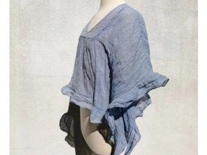 See by Chloe Tunika Bluse Shirt blau Neu S 38 36