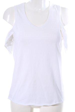 See by Chloé V-Ausschnitt-Shirt weiß Casual-Look