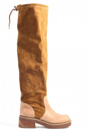 See by Chloé Weitschaftstiefel braun-creme Casual-Look