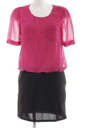 See u soon Blusenkleid pink-schwarz Casual-Look
