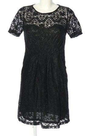See u soon Koronkowa sukienka czarny Siateczkowy wzór W stylu casual