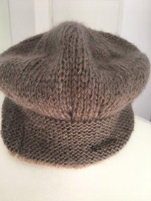 Seeberger Chapeau en tricot marron clair mohair