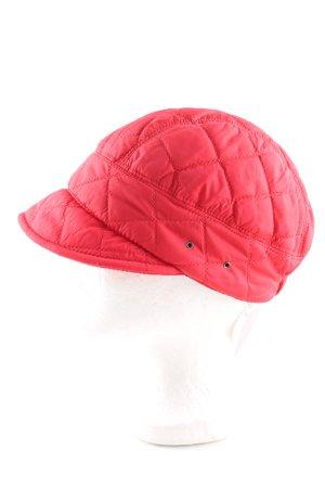 Seeberger Ballonmütze rot Steppmuster Casual-Look