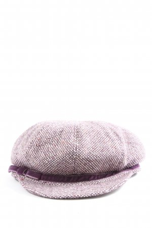 Seeberger Cappello da panettiere lilla-bianco sporco stile casual