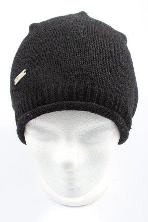 Seeberger Baskenmütze schwarz Casual-Look