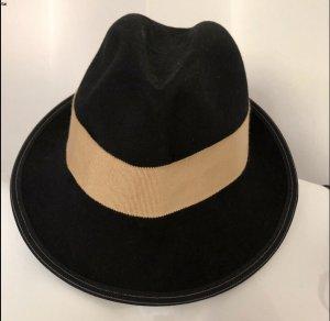 Seeberger Chapeau en feutre noir-rose chair
