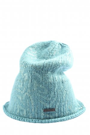 Seeberger Crochet Cap turquoise flecked casual look