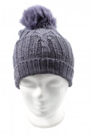 Seeberger Crochet Cap lilac cable stitch casual look