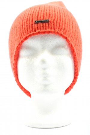 Seeberger Crochet Cap light orange casual look