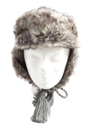 Seeberger Bonnet cache-oreilles gris clair-brun style décontracté