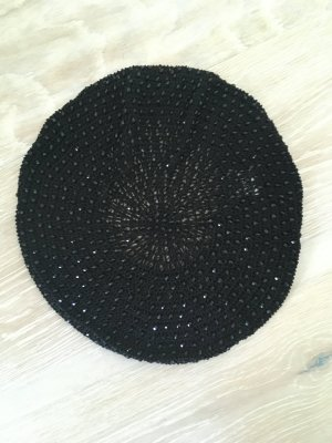 Seeberger Beret black mixture fibre