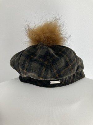Seeberger Mütze Hut Ballon Basken Cap grün braun oliv khaki