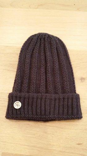 Seeberger Chapeau en tricot brun foncé