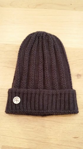 Seeberger Knitted Hat dark brown alpaca wool