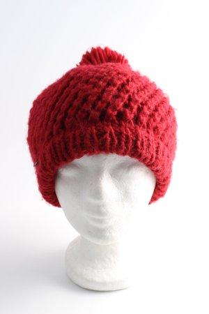 Seeberger Cappello con pon pon rosso stile casual