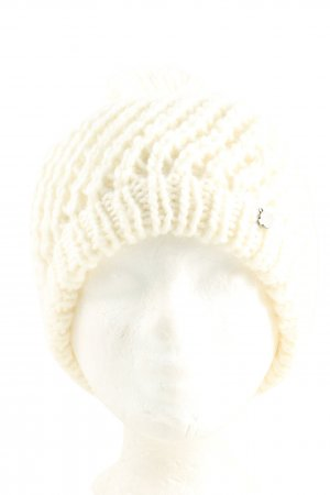 Seeberger Bobble Hat natural white cable stitch casual look